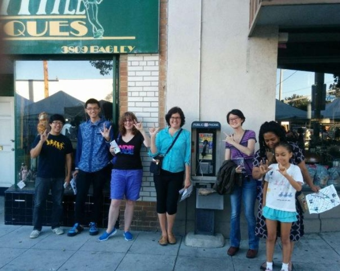 Group challenge with the Main St payphone