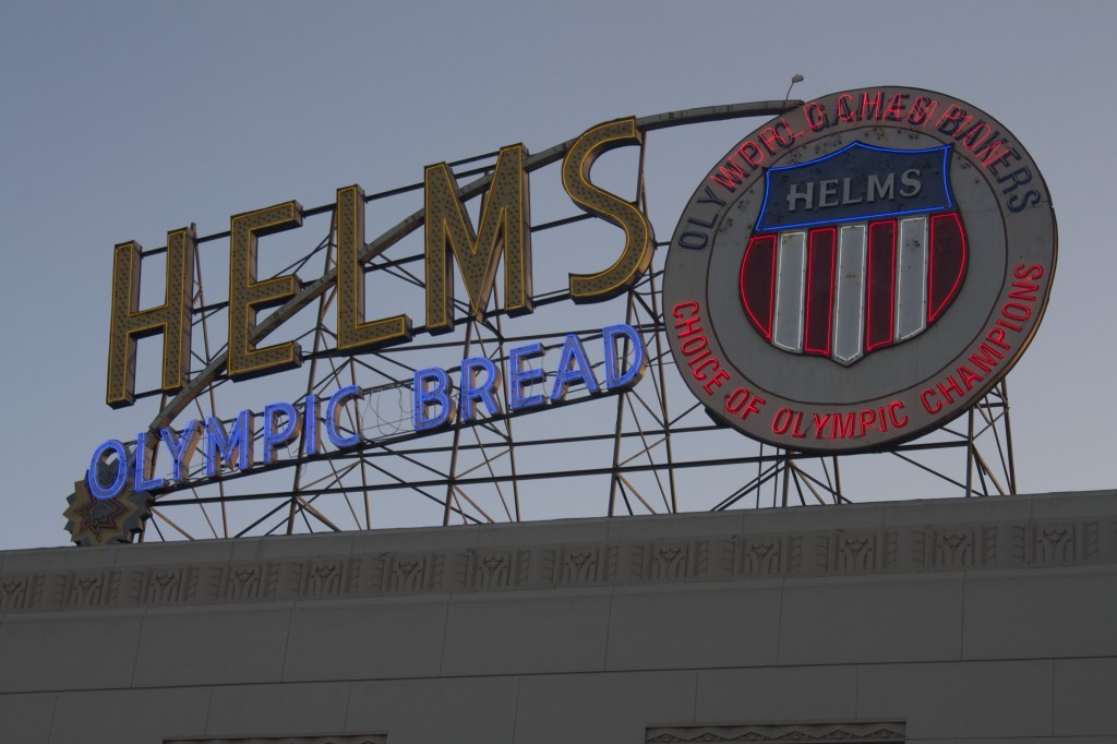 Iconic Helms Bakery sign. Photo by Nicholas Busalacchi.